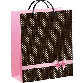 "Пакет ""Розовый бантик"", мягкий пластик, 40х30 см, 140 мкм"