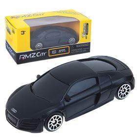 Машина металлическая 1:64 Audi R8 V10, без механизмов, черный матовый цвет
