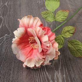 Декоративный цветок 'Сказочная роза', бело-розовый Ош