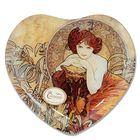 "Тарелка в форме сердца ""Изумруд"" А. Муха, 25х23 см"