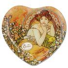 """Тарелка в форме сердца """"Топаз"""" А. Муха, 25х23 см"""