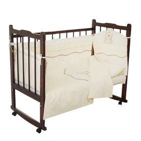 Комплект в кроватку (5 предметов), цвет бежевый 27