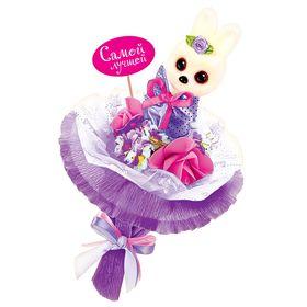 """Набор для создания букета из игрушек и цветов """"Зайчонок"""""""