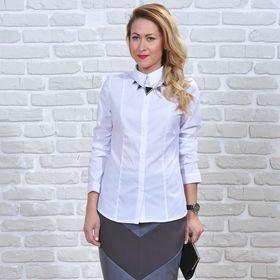 Рубашка женская 5612, размер 46, рост 164 см, цвет белый