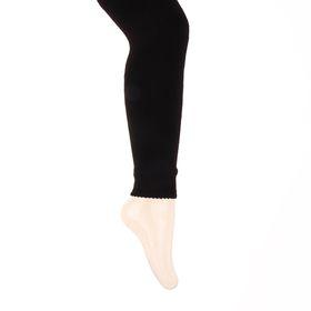 Легинсы детские шерстяные плюшевые ЭЛ88, цвет чёрный, рост 134-140
