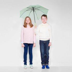 Зонт детский полуавтоматический 'Однотонный', r=41см, цвет зелёный Ош