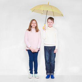 Зонт детский полуавтоматический 'Однотонный', r=41см, цвет жёлтый Ош