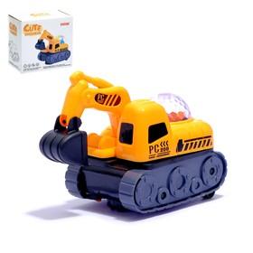 """Трактор """"Стройка"""", работает от батареек, световые и звуковые эффекты"""