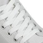 Шнурки для обуви плоские, 8мм, 90см, цвет белый