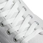 Шнурки для обуви плоские, 8мм, 120см, цвет белый