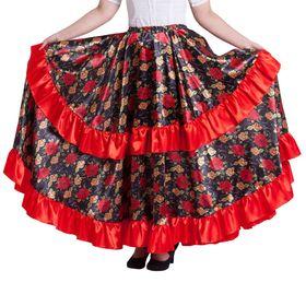 Карнавальная юбка 'Цыганская', цвет красный, обхват талии 60-72 см, длина 95 см Ош