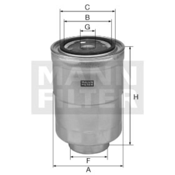 Фильтр топливный MANN-FILTER WK8053Z