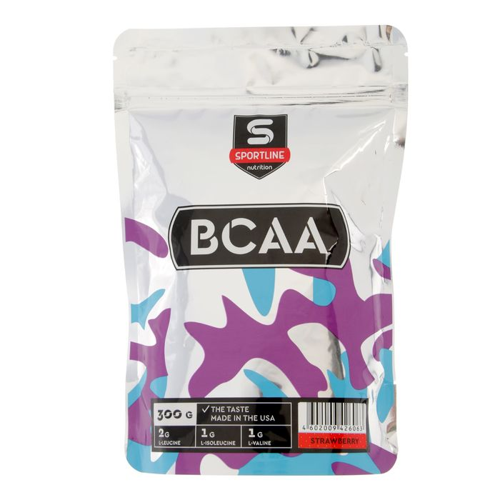Аминокислоты SportLine BCAA 2:1:1, клубника, 300 г