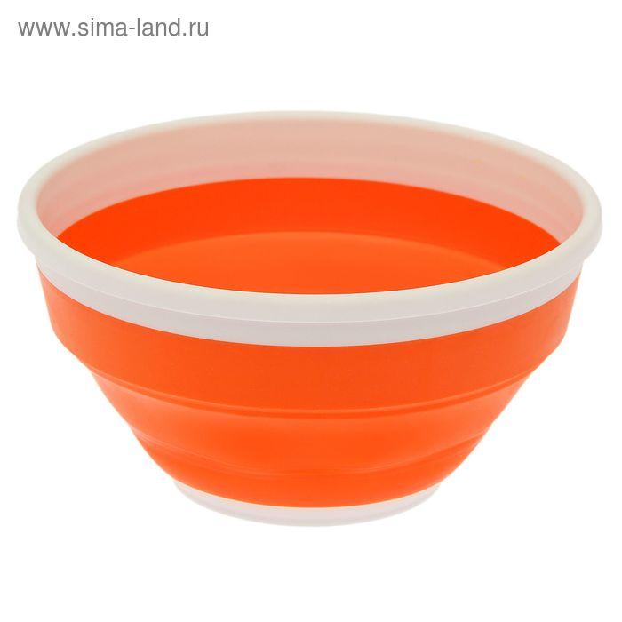 Миска 1,4 л складная Compact, цвет мандарин
