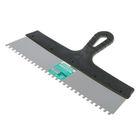 """Шпатель зубчатый """"ИНТЕК"""", 350 мм, зуб 6х6 мм, нержавеющая сталь, ручка пластик"""