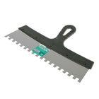 """Шпатель зубчатый """"ИНТЕК"""", 350 мм, зуб 10х10 мм, нержавеющая сталь, ручка пластик"""