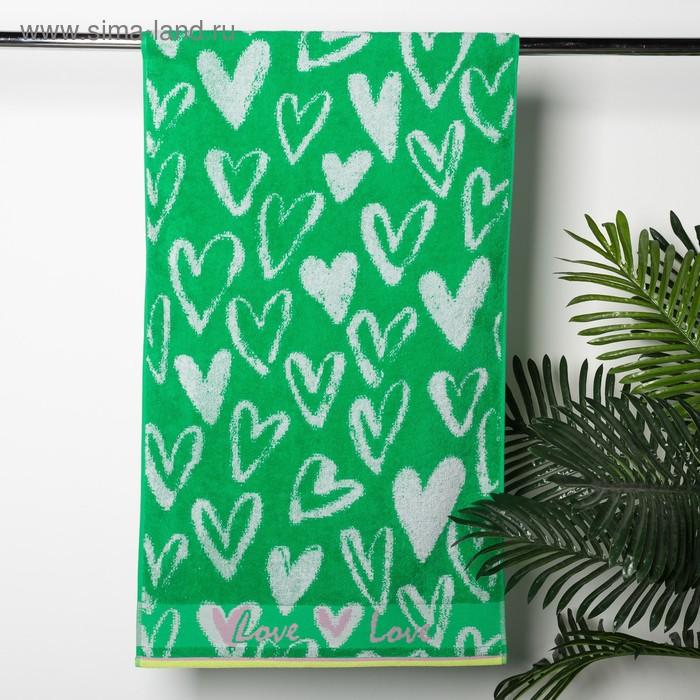 Полотенце махровое Heart Print, 50х90, хл 100%, 420 гр/м