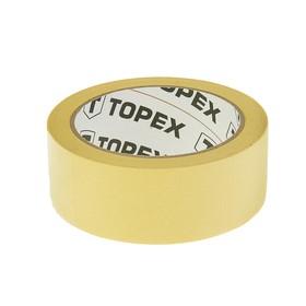 Лента TOPEX, 38 мм x 35 м, малярная, цвет желтый