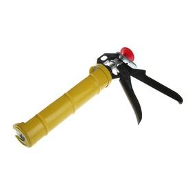 Пистолет для герметика TOPEX, полуоткрытый корпус, круглый шток, сталь с алюминием