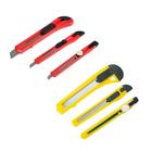 Набор ножей универсальных Top Tools, 3 шт, корпус пластик, 9 мм, 18 мм