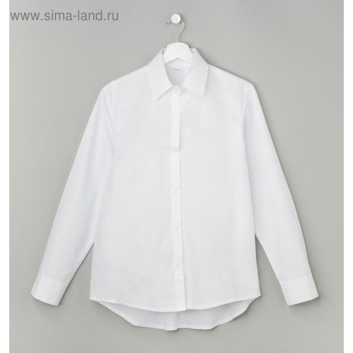 Рубашка женская полуприлегающая, размер 48-50, белый, хлопок 100%