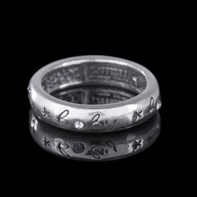 """Кольцо """"Свитти"""", размер 16, цвет белый в чернёном серебре"""