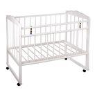 Детская кроватка «Женечка-3» на колёсах или качалке, цвет белый
