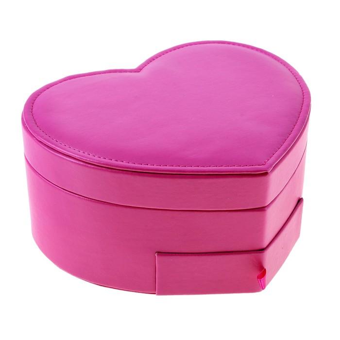 """Шкатулка для мелочей """"Сердце розовое"""""""