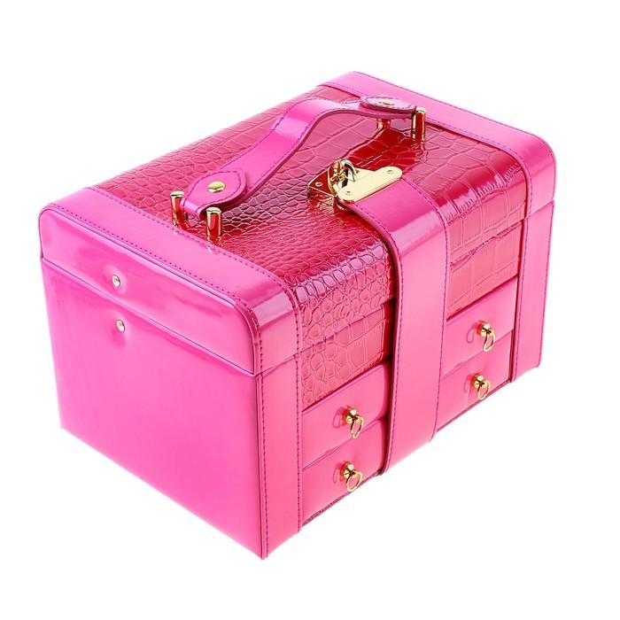 "Шкатулка для украшений ""Розовый питон"" глянцевая"