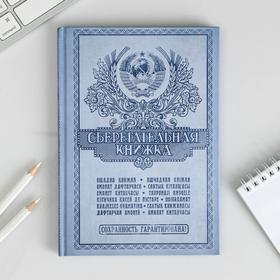 """Ежедневник """"Сберегательная книжка"""", твёрдая обложка, А5, 80 листов"""