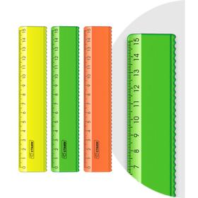 Линейка 15 см «Стамм» с волнистым краем NEON микс Ош