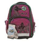 Рюкзак школьный эргономичная спинка для девочки Steiner 4101-154, 41*30*17 «Бабочки», чёрный/фуксия 4101-154