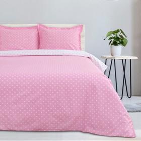 """Постельное бельё """"Этель"""" 1,5 сп. Розовая карамель, размер 143х215 см, 150х214 см, наволочка трансформер 70х70 (50х70 см) - 2 шт., поплин 125 г/м2"""
