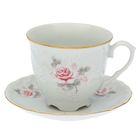 """Кофейная пара """"Рококо.Бледная Роза"""": чашка 170 мл, блюдце 12,5 см"""
