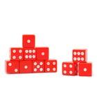 Кости игральные 1,6 × 1,6 см, красные, фасовка 100 шт.