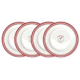 Набор из десертных тарелок 'Французская кухня', 4 предмета, 19 см Ош