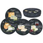 """Набор из десертных тарелок """"Мир сыров"""", 4 предмета, 19 см"""