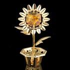 Сувенир «Цветок», 2х3,5х6 см, с кристаллами Сваровски