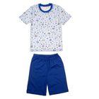 """Пижама для мальчика """"Серия"""", рост 110 см (56), цвет голубой  УНЖ006001н"""