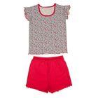 """Пижама для девочки """"Сказочные сны"""", рост 98 см (52), цвет меланж/малиновый  ДНЖ353007н"""