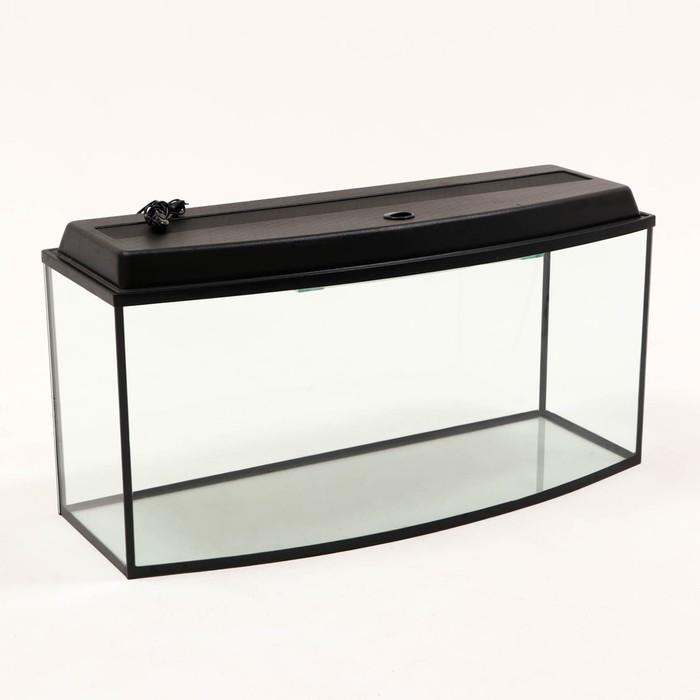 Аквариум с крышкой Телевизор 200 л, черный