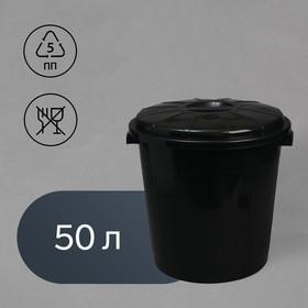 Бак хозяйственно-бытовой, 50 л, с крышкой, цвет МИКС