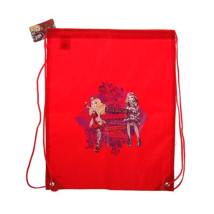 Мешок для обуви 430 х 350 мм Mattel Ever After High, красный, полиэстер 210den