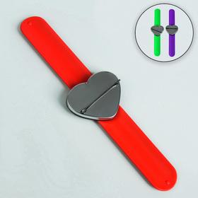 Магнитный браслет-держатель для шпилек и невидимок, в форме сердца, цвет МИКС