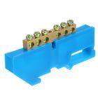 """Шина """"N"""" нулевая TDM, 6x9 мм, 6 групп, с изолятором, стойка бол., SQ0801-0026"""
