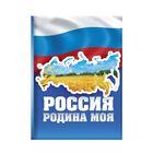 """Блокнот """"Россия - Родина моя"""", твёрдая обложка, А7, 64 листа"""