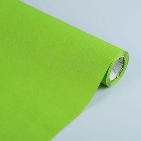 Бумага упаковочная крафт, двусторонняя зеленая, 0.5 х 10 м