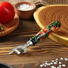 Нож консервный Хохлома сварная 160мм, бук, сталь твердая коррозионностойкая