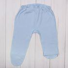 Ползунки детские, рост 62-68 см, цвет голубой/молочный E055002K68_М