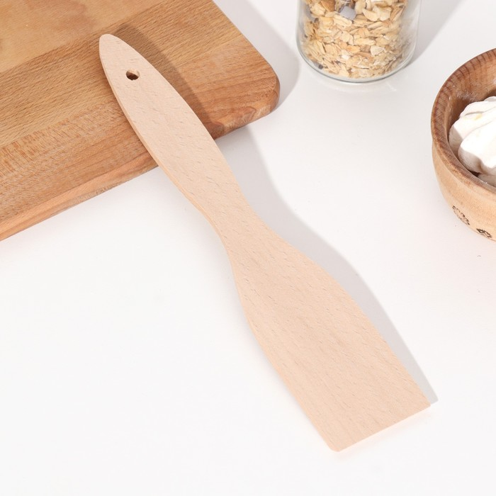 Лопатка кухонная 300х58х5 мм, бук экстра